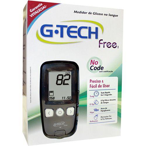 Aparelho Medidor de Glicose G-Tech Free