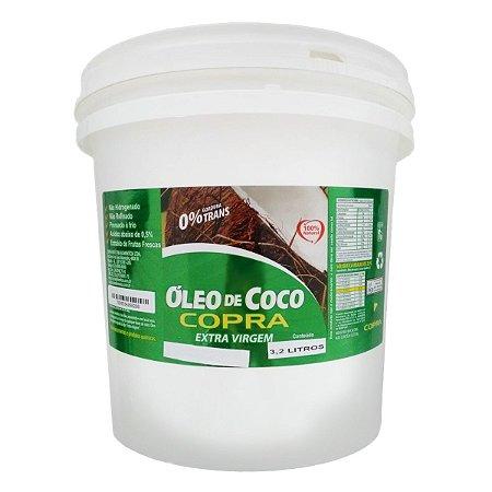 Oleo De Coco Balde 3,2 Litros Extra Virgem Copra