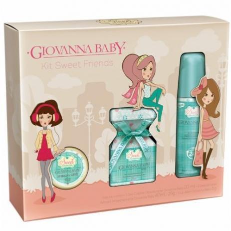 Kit Giovanna Baby Colonia 20ml + Des. 40ml + Lip Balm 6gr