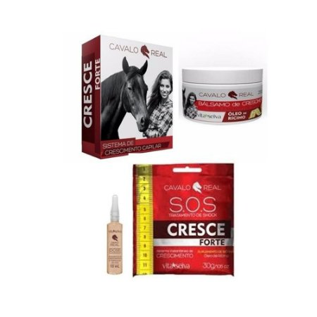 Kit Vita Seiva Cavalo Real Sh + Cond + Balsamo+sos+ Biotina