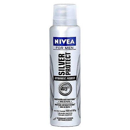 Desodorante Nivea Aerosol 150ml Men Active Dry Silver