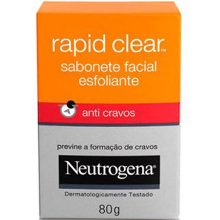 Neutrogena Rapid Clear Sabonete Esfoliante anti-cravos 80gr
