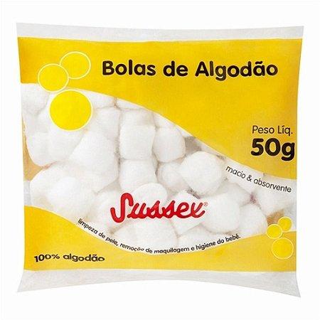 Algodao Sussex Bolas Branco 50grs