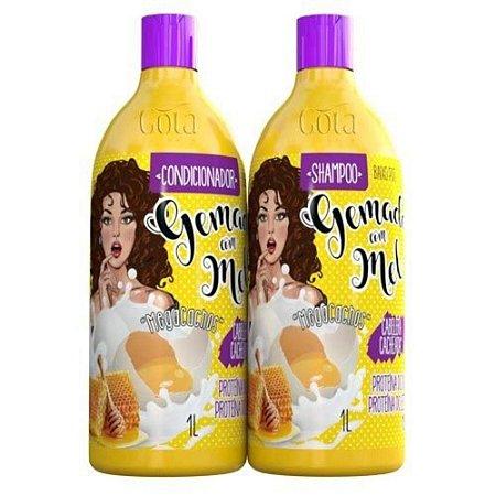 Kit Gota Dourada Gemada com Mel Sh + Cond 1 litro cada