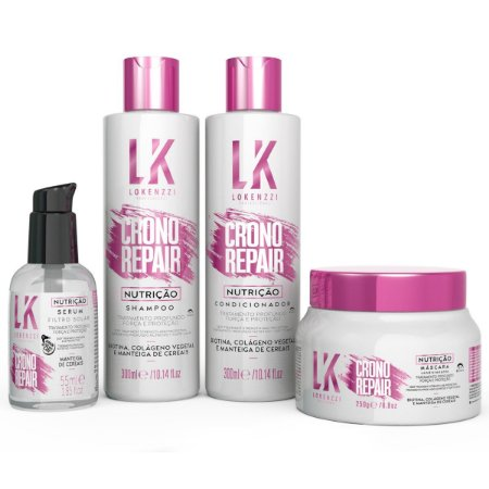 Kit Lokenzzi Crono Repair Nutrição (4 produtos)