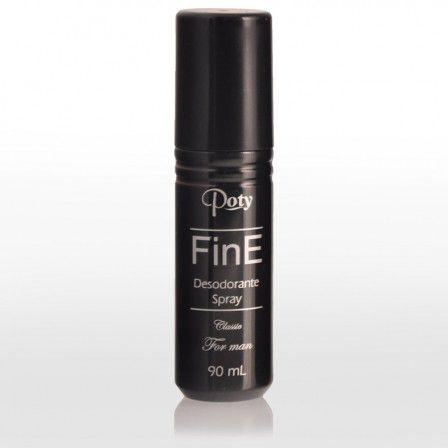 Desodorante Poty Spray Masculino 90mL FinE