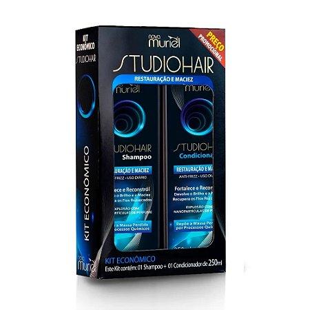 Kit Muriel Studio Hair Sh e Cond Restauração e Maciez 250ml