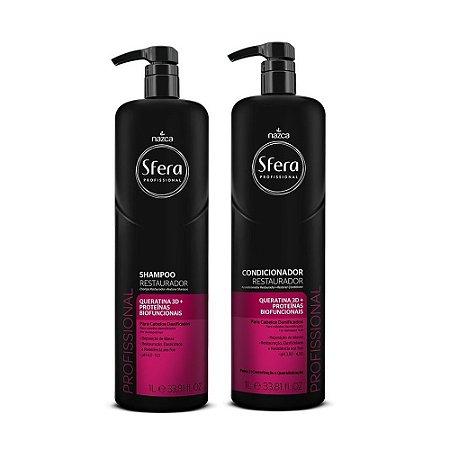 kit shampoo e condicionador sfera profissional 1litro cada - nazca