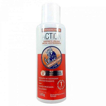 Minancora Action Sabonete Liquido Facial Adstringente 120g