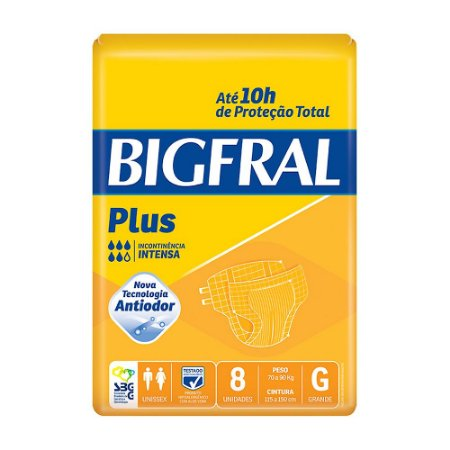 Fralda Bigfral Plus G Adulto C/8