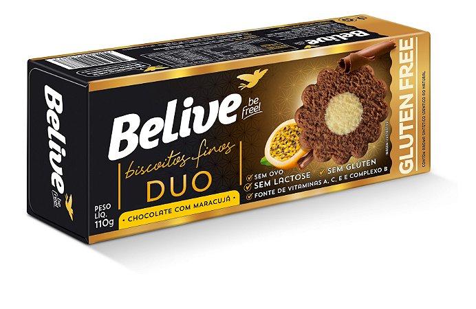 BISCOITO CHOCOLATE/MARACUJA 110G BELIVE