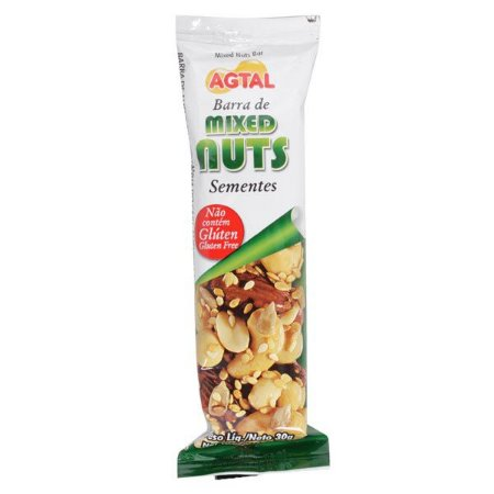 Barra de Cereal Mixed Nuts Sementes 30g AGTAL