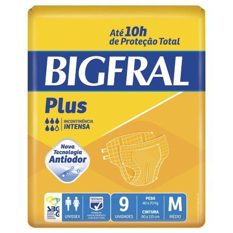 Fralda Bigfral Plus M Adulto 9UN