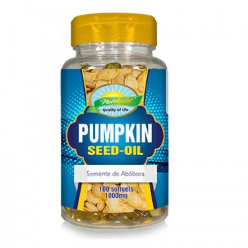 Pumpkin Seed-oil 1g Semente Abobora 100 softgel - Nutrilgold