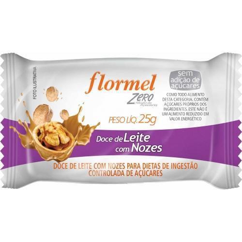 Doce Flormel 25g Leite com Nozes 0% açúcar