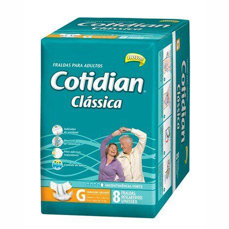 Fralda Geriatrica Cotidian Classica Tam. G  C/ 8