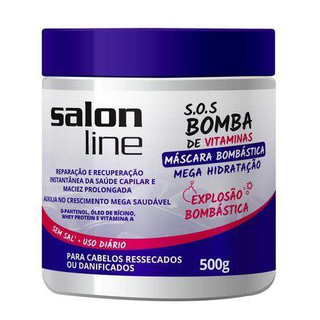 Mascara Salon Line Bombástica SOS Bomba 500g