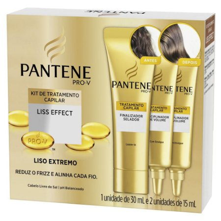 Pantene Kit Liso Effect 1un 30ml e 2 un 15ml