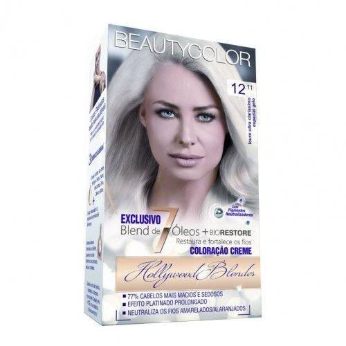 Tintura Beauty Color Kit 12.11 Louro Ultra Clarís Esp. Cinza