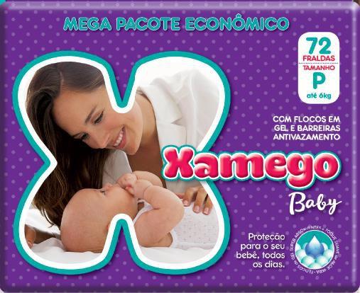 Fralda Xamego Tam P c/ 72 un