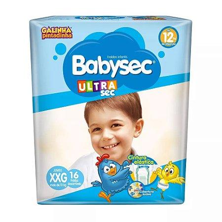 Fralda Babysec Ultra Jumbo XXG com 16 Galinha Pintadinha
