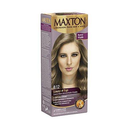Tintura Maxton Kit 8.12 Louro Claro Acinzentado Risado