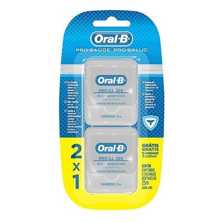 Fio Dental Oral-B Pro-Saúde Leve 2 Pague 1 25m cada