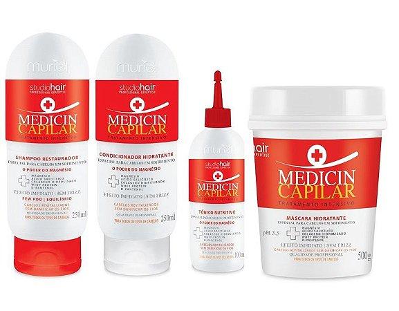 Kit Muriel Tratamento Intensivo Medicin Capilar