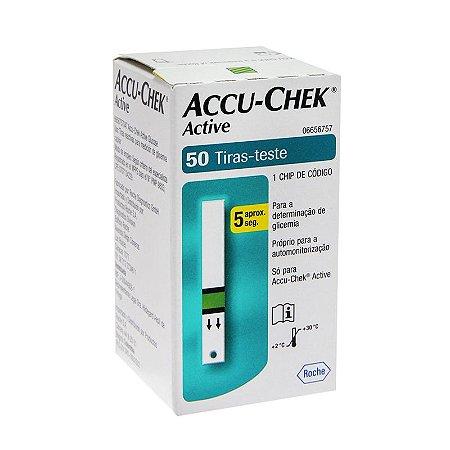 Tiras Para Medir Glicose Accu Chek  Active c/50 unid.