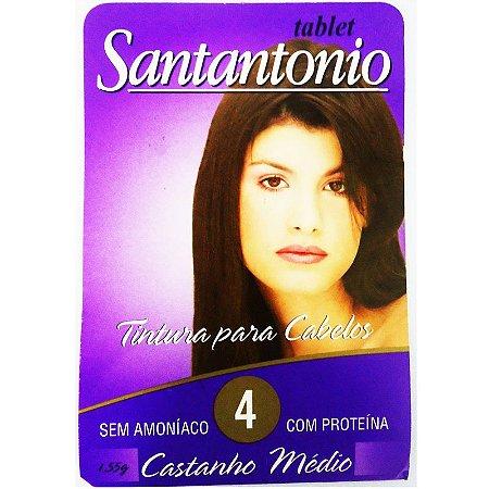 Tintura Tablete SantAntonio 4 Castanho Medio