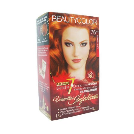 Tintura Beauty Color 76.44 Ruivo Absoluto