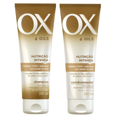 Kit Ox Oils Nutrição Intensa Shampoo 240ml + Condicionador 240ml
