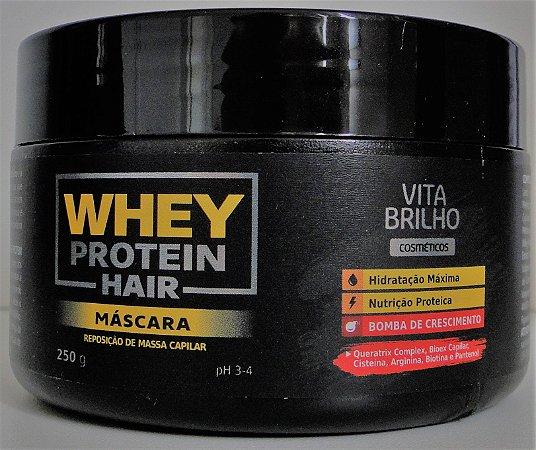Máscara Vita Brilho Whey Protein Hair Reposição 250gr