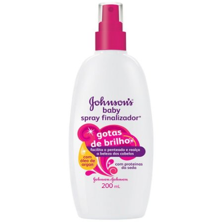 Spray Finalizador Johnson Baby Gotas de Brilho 200ml
