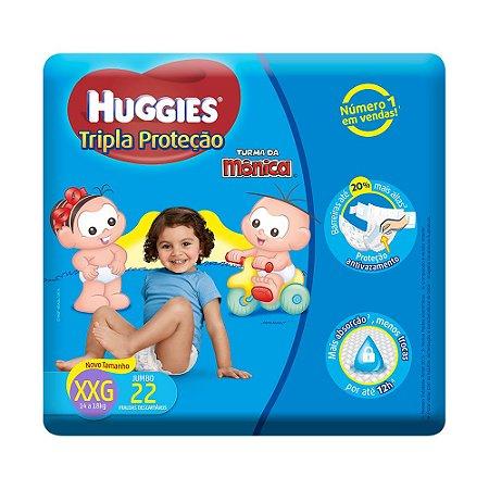 Fralda Monica Huggies Tripla Proteção XXG 22un