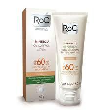 Protetor Solar Facial Roc Minesol Tinted FPS 60 50g