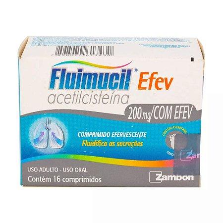 acetilcisteina - FLUIMUCIL 200MG EFEVERC 16CPR
