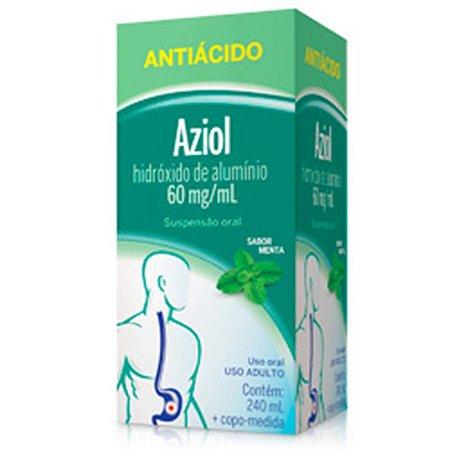 Hidroxido de Aluminio 240ml  - Aziol Sabor Menta