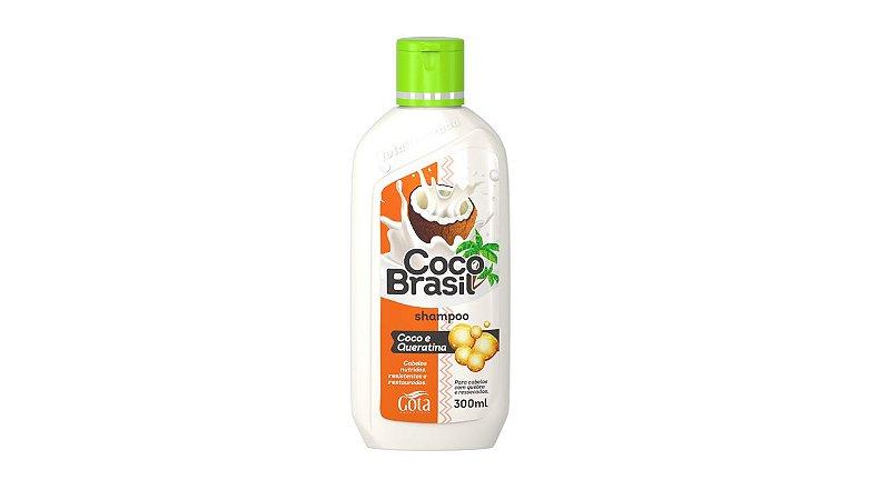 Shampoo Gota dourada Coco+Queratina 300mL