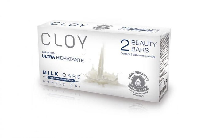 Sabonete Beauty Bars Milk Care 2 X 80gr Cloy
