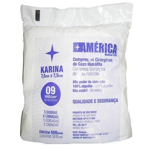 Compressa de Gaze Karina 500 unidades