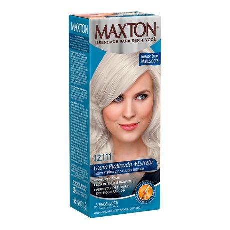 Tintura Maxton Kit 12.111 Loura Platina Cinza Super Intenso
