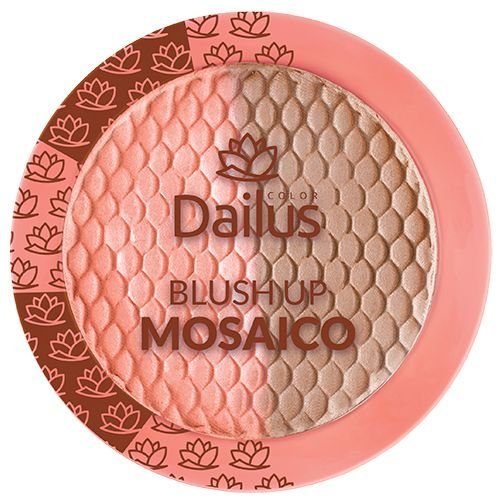 Dailus Blush Up Mosaico 02 Coral Iluminado 9g