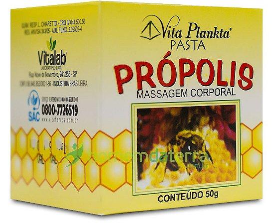Pasta de Própolis Massagem Corporal Vita Plankta 50gr