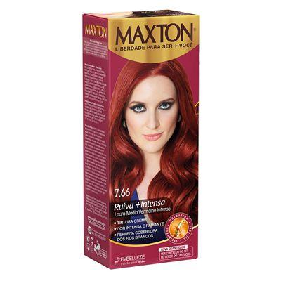 Tintura Maxton Kit 7.66 Louro Medio Vermelho Intenso