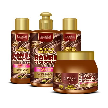Kit Forever Liss Bomba de Chocolate Profissional