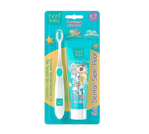 kit Higiene Bucal Boni Baby Gel Dental e Escova 0-3 anos