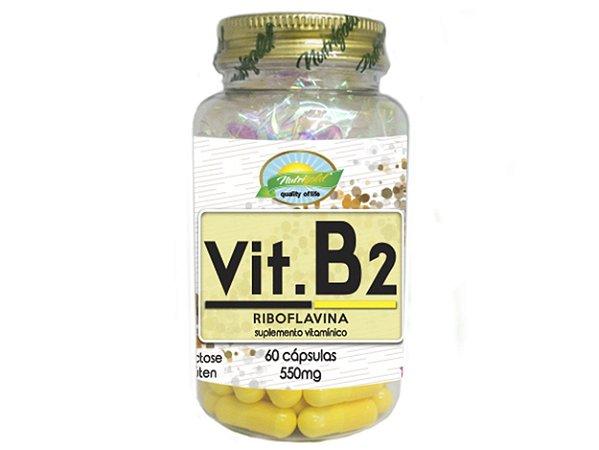 VIT B2 Riboflavina 550mg Nutrigold c/60 capsulas