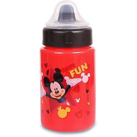 Copo Disney BabyGo Mickey c/Tampa e Valvula 340ml (Vermelho)