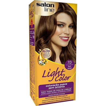 Tintura Ligth Color Sem  Amônia 7.0 Louro Natural